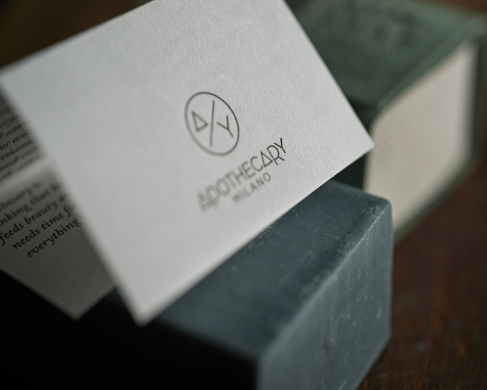 Logo e Packaging di Apothecay Milano